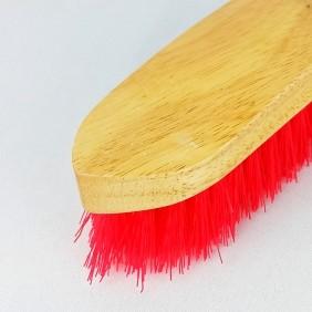 Escova Partrade de Madeira Envernizada com Cerdas Vermelho