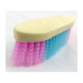 Escova Pequena para Banho de Cavalo Cerdas Nylon Colorida