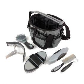 Kit de Higiene e Limpeza para Cavalos Cinza Importado