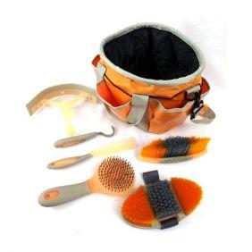 Kit de Higiene e Limpeza para Cavalos Partrade Laranja