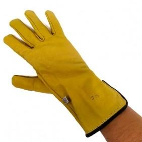 Luva de Couro para Trabalho Mão Direita Resistente Flexível