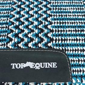 Manta para Cavalo Top Equine Ortopédica Azul Branco Preto
