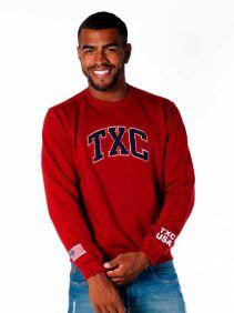 Moletom TXC Masculino Vermelho Escuro Logo Aplicada