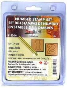 Numeral para Estampar Couro Tandy Leather 8135-00 Importado