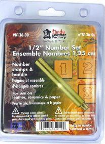 Numeral para Gravar em Couro Tandy Leather 8136-00 Importado