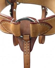 Peiteira para Cavalo Top Equine em Couro Duplo Liso