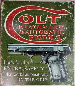 Placa Western Decorativa Metal do Velho Oeste Colt Importada