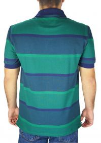 Polo Masculina Austin Western Original Shirts Azul Verde