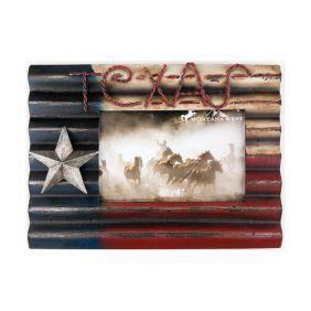 Porta Retrato Western Importado com a Bandeira do Texas