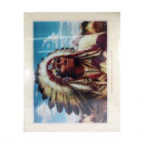 Pôster de Desenho Decorativo Western Quadro Cacique Xamaníca