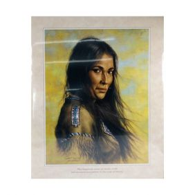Pôster Decorativo Western Quadro Filha Pajé Tribo Indígena