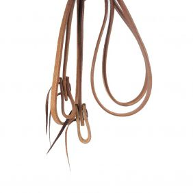 Rédea para Cavalo Fechada Top Equine em Couro Liso