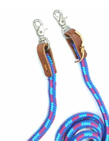 Rédea Weaver Leather para Cavalo Mosquetão Trançado Colorido