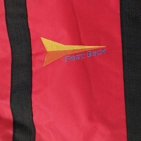 Sacola Fast Back para Corda e Laço Simples Vermelho Alça Preto