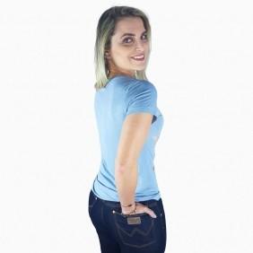 T Shirt Feminina Zenz Western Celestial com Strass