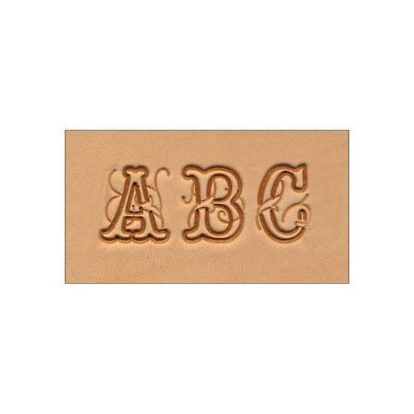 Alfabeto de Estampar Couro com Letras Trabalhadas Tandy Leather 8139-00 Importado