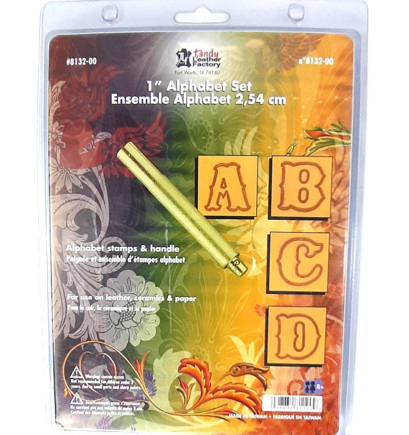 Alfabeto de Estampar Couro Tandy Leather 8132-00 Importado