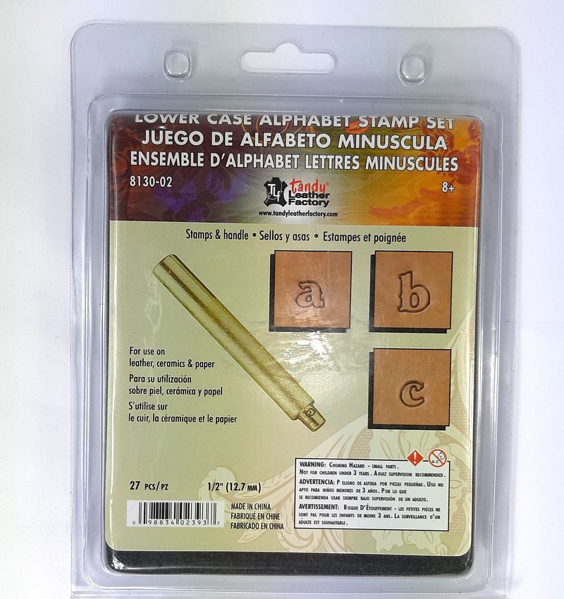 Alfabeto de Gravar Couro Tandy Leather 8130-02 Importado