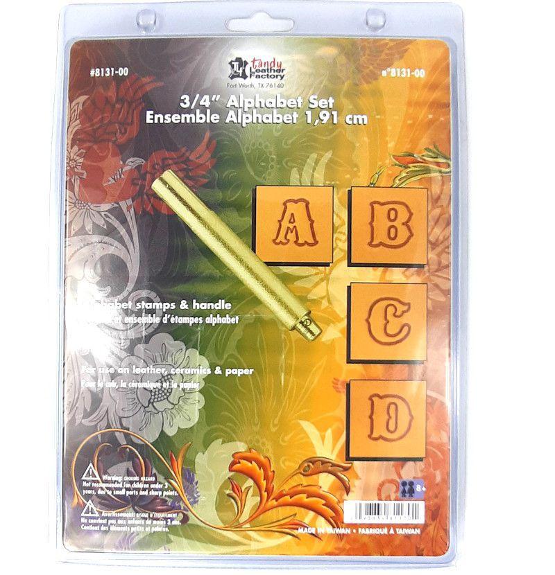 Alfabeto para Estampar Couro Tandy Leather 8131-00 Importado