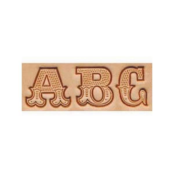 Alfabeto para Marcar Couro 8145-00 Importado com Letras Trabalhadas Tandy Leather