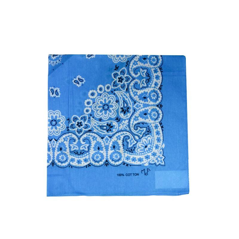 Bandana em Tecido com Estampa Floral Azul