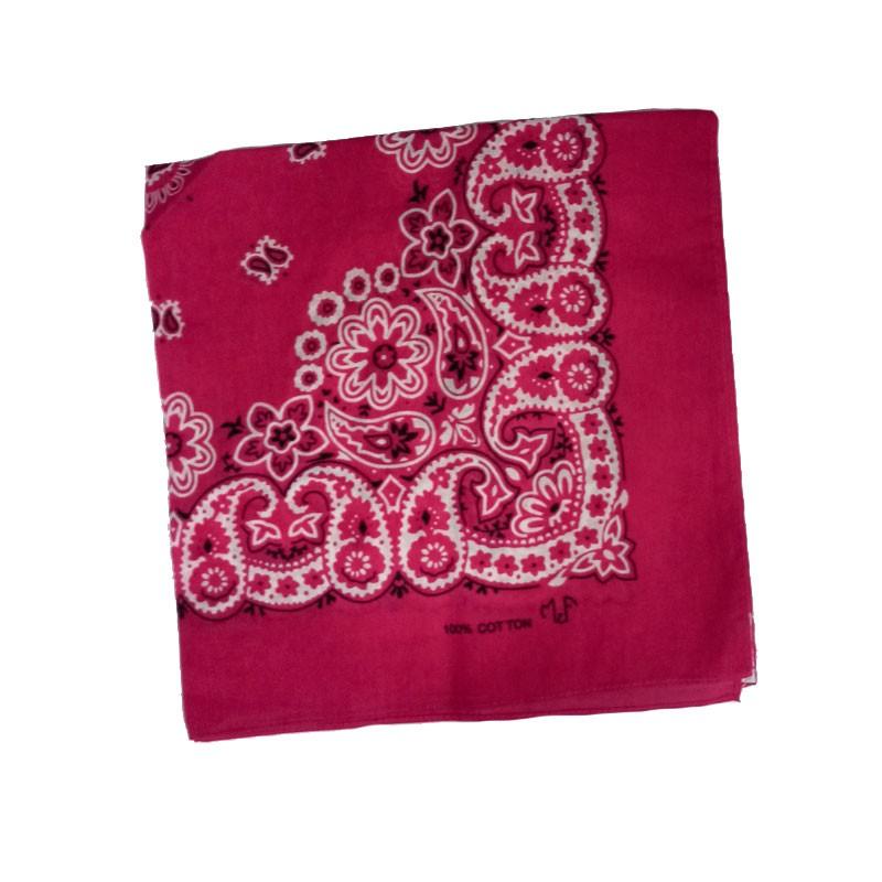 Bandana em Tecido com Estampa Floral Pink