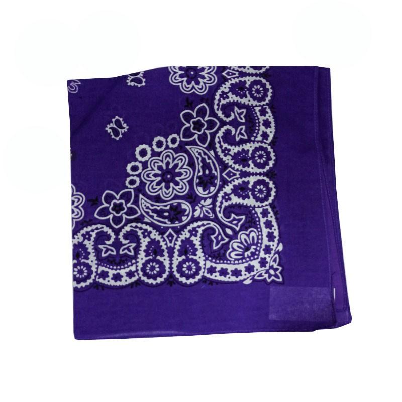 Bandana em Tecido com Estampa Floral Violeta