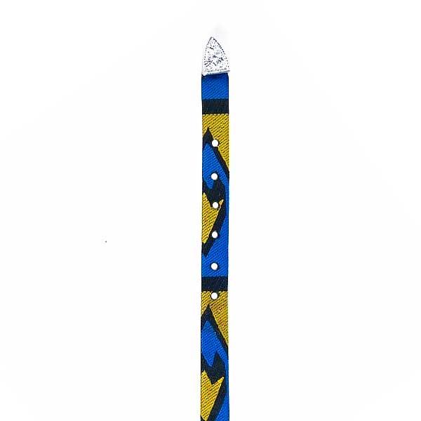 Bandinha para Chapéu em Tecido Azul e Amarelo com Fivela