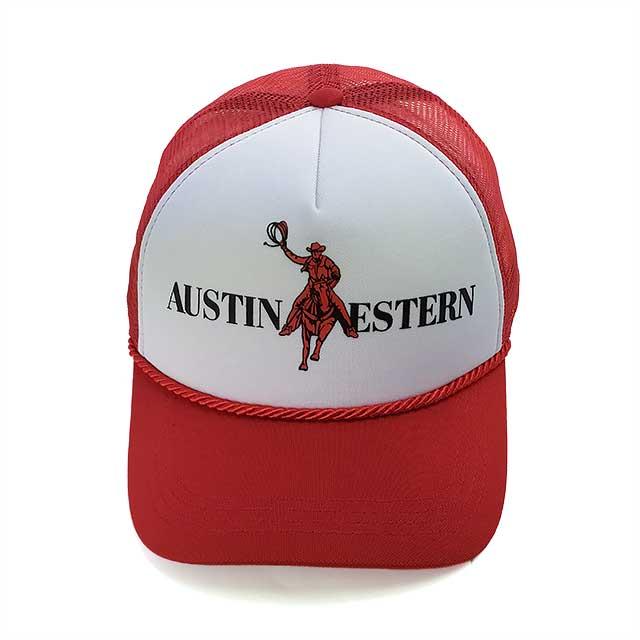 Boné Austin Western Country Snapback Vermelho e Branco