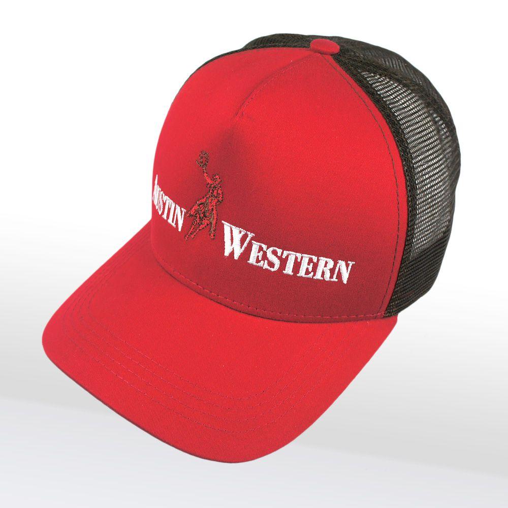 Boné Austin Western Tela Regulagem Snapback Vermelho
