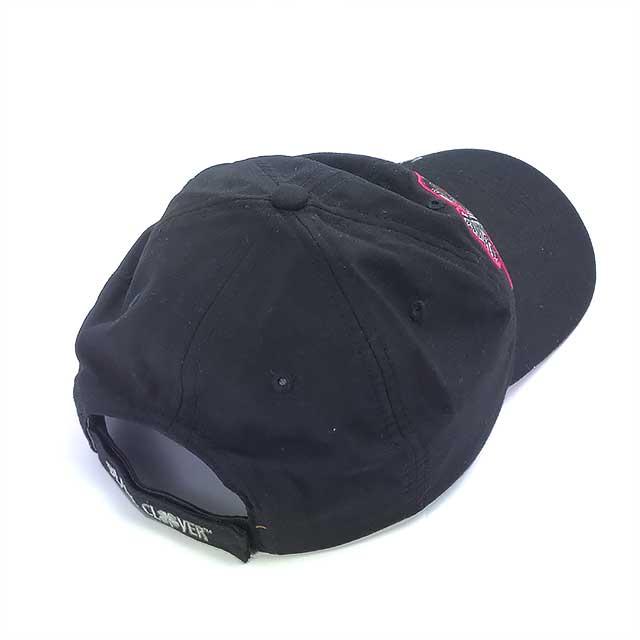 Boné Black Clover Feminino Velcro Importado Preto e Rosa