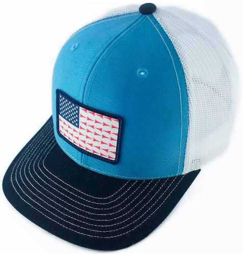 Boné Fast Back em Tela com Regulagem Snapback Importado USA Branco e Azul