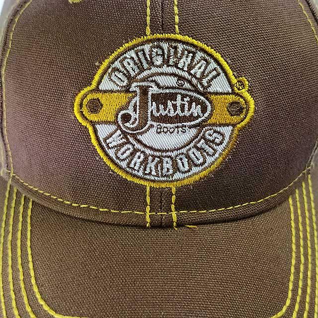 Boné Justin Boots Masculino com Regulagem Velcro Marrom