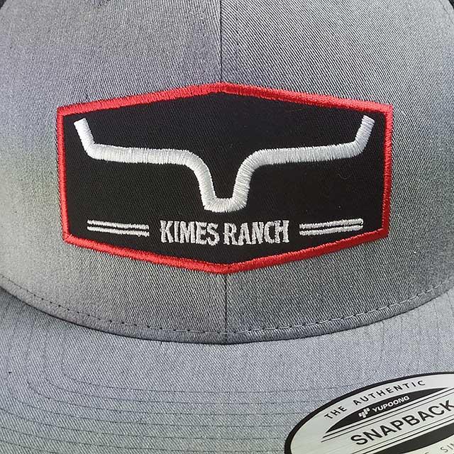 Boné Kimes Ranch Tela Snapback Original Aba Reta Cinza