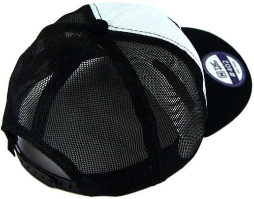 Boné TXC Brand em Tela com Regulagem Snapback Preto e Branco