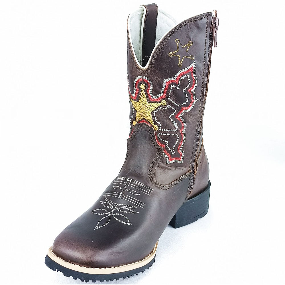 Bota Infantil Mr West Sheriff Solado Flex Quadrado