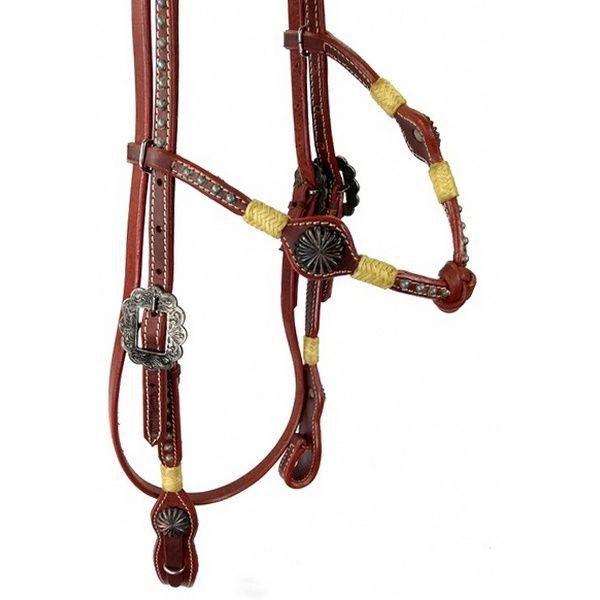 Cabeçada para Cavalo com Testeira Trabalhada Inervo e Margaridas Top Equine