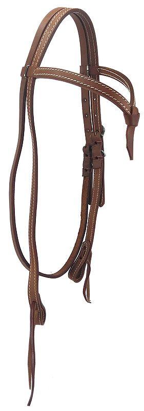 Cabeçada para Cavalo em Couro com testeira Top Equine