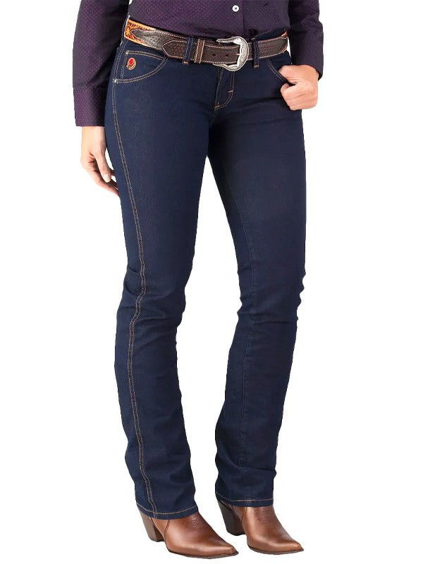 Calça Jeans Feminina Wrangler 20X Escura Washed
