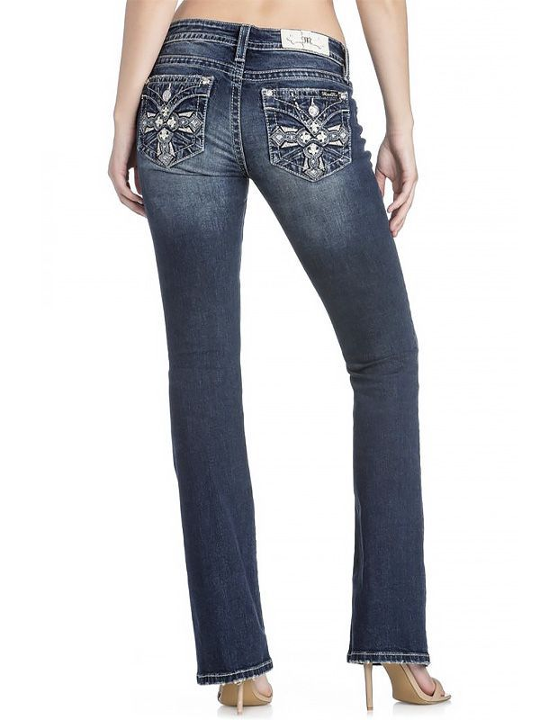 Calça Jeans Importada Miss Me Feminina Cross Flap Pockets