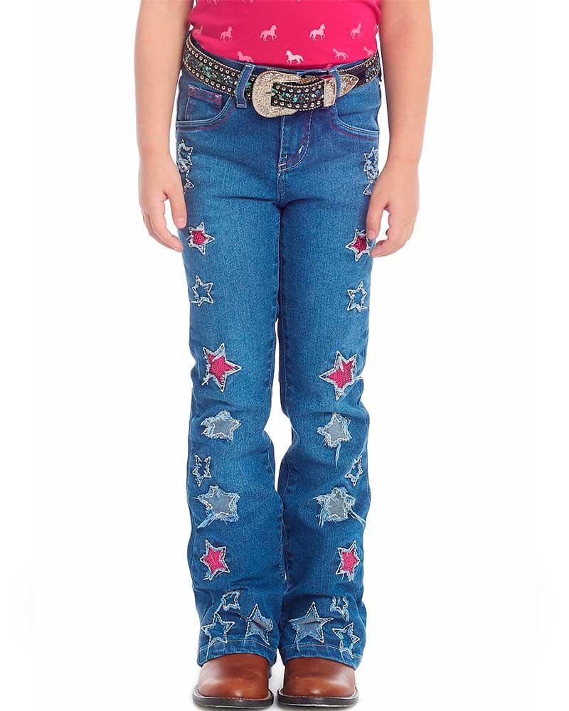 Calça Jeans Tassa Infantil Flaire Boot Cut Bordado Paetês