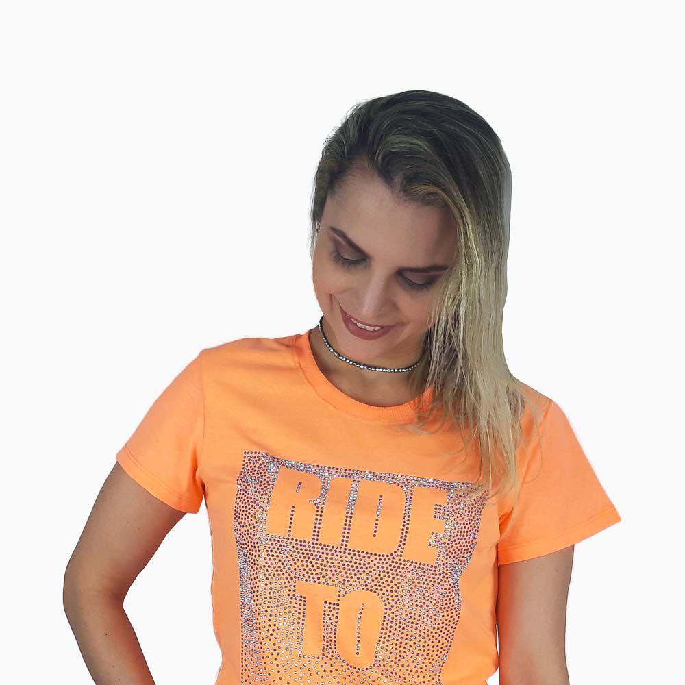 Camiseta Miss Country Feminina Tee Galaxi Laranja