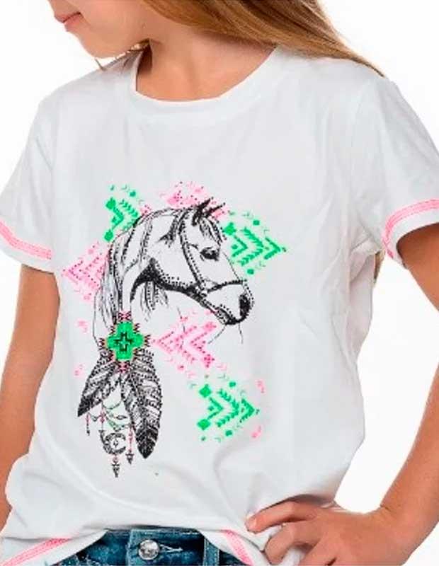 Camiseta Miss Country Infantil Menina Cavalo Etinico Mãe e Filha