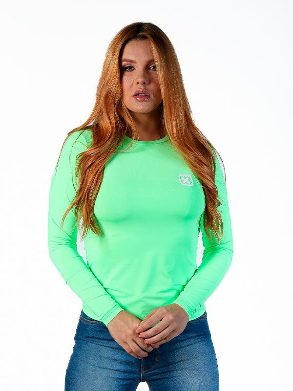 Camiseta TXC Feminina Manga Longa X-Sweat Verde
