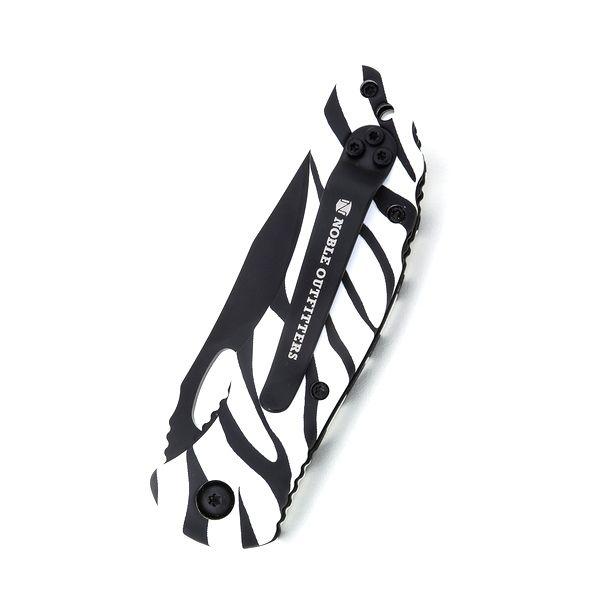 Canivete com Lâmina Serrilhada Estampa Zebra Noble Outfitter