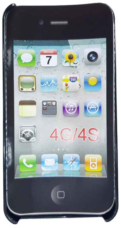 Capinha Celular Iphone 4-4S em Plástico Estampa de Cruz Rosa