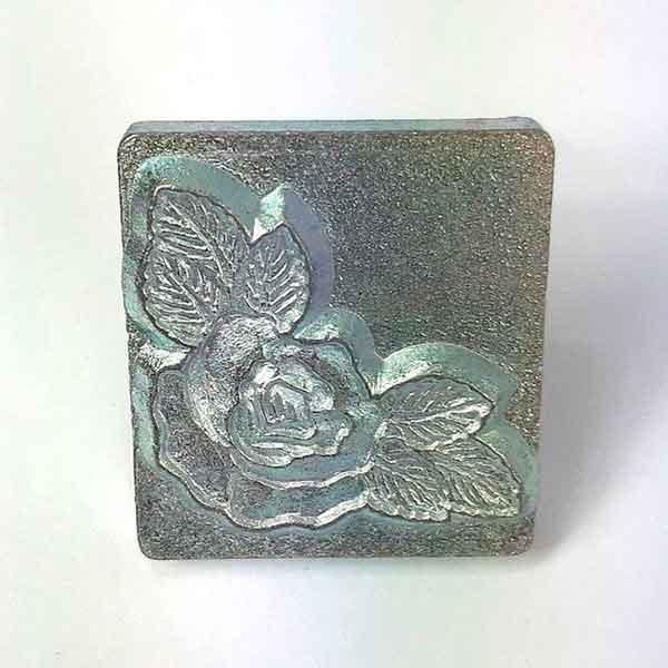 Carimbo Couro Botão de Rosa Tandy Leather 8534-00 Importado