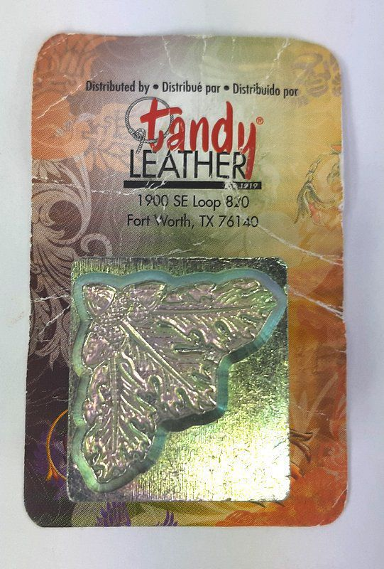Carimbo Couro Folha Carvalho Tandy Leather 8536-00 Importado