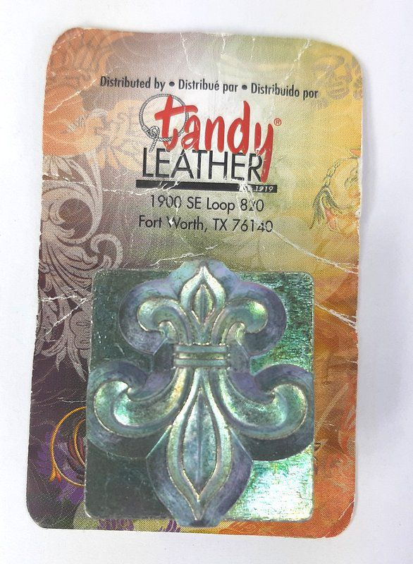 Carimbo para Estampar Flor-de-Lis Tandy Leather 8613-00