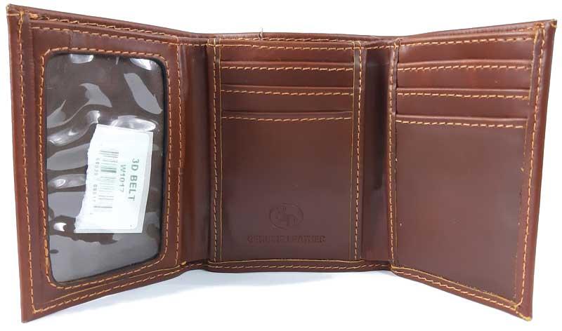 Carteira 3D Belt Lisa em Couro W1017